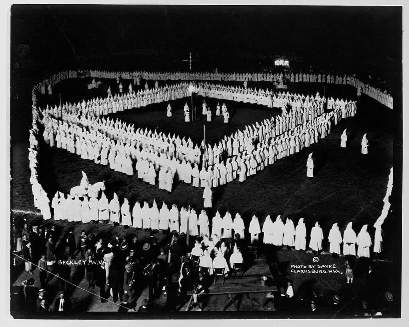 Members Stand In A Square Form is listed (or ranked) 1 on the list 18 Disturbing Photos Of KKK Rallies