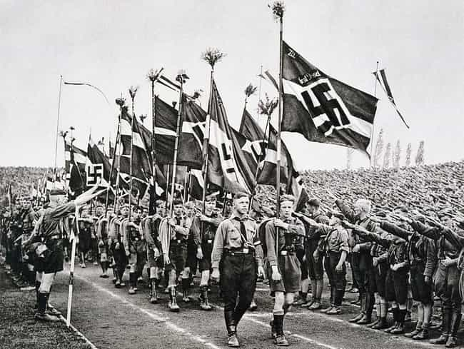 The Hitlerjugend (Hitler... is listed (or ranked) 1 on the list 32 Photos Of Nazi Youths That Will Give You Nightmares