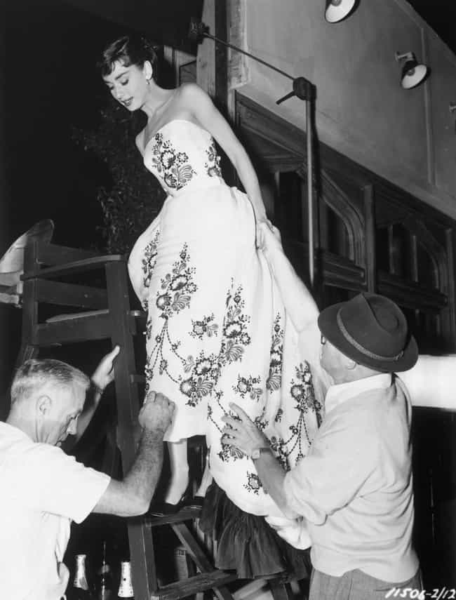 Costume Wrangling On The Set O... is listed (or ranked) 4 on the list 27 Rare Audrey Hepburn Photos