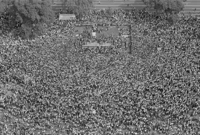 Aerial View Of The March... is listed (or ranked) 4 on the list 20 Photos From The March On Washington You've Definitely Never Seen Before