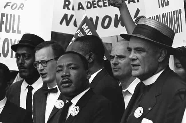 Martin Luther King, Jr. ... is listed (or ranked) 1 on the list 20 Photos From The March On Washington You've Definitely Never Seen Before