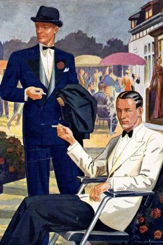 Blue, Double-Breasted Tu... is listed (or ranked) 8 on the list How Weird Sportcoats From History Led To The Modern Tuxedo