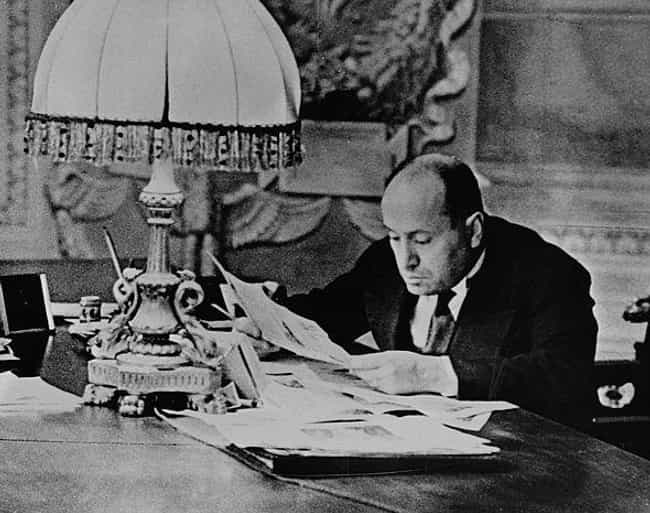 Reading At His Desk In R... is listed (or ranked) 4 on the list 21 Rare Photos of Benito Mussolini That You've Definitely Never Seen Before