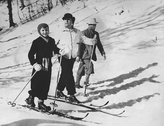 Skiing With His Son Romano In ... is listed (or ranked) 3 on the list 21 Rare Photos of Benito Mussolini That You've Definitely Never Seen Before