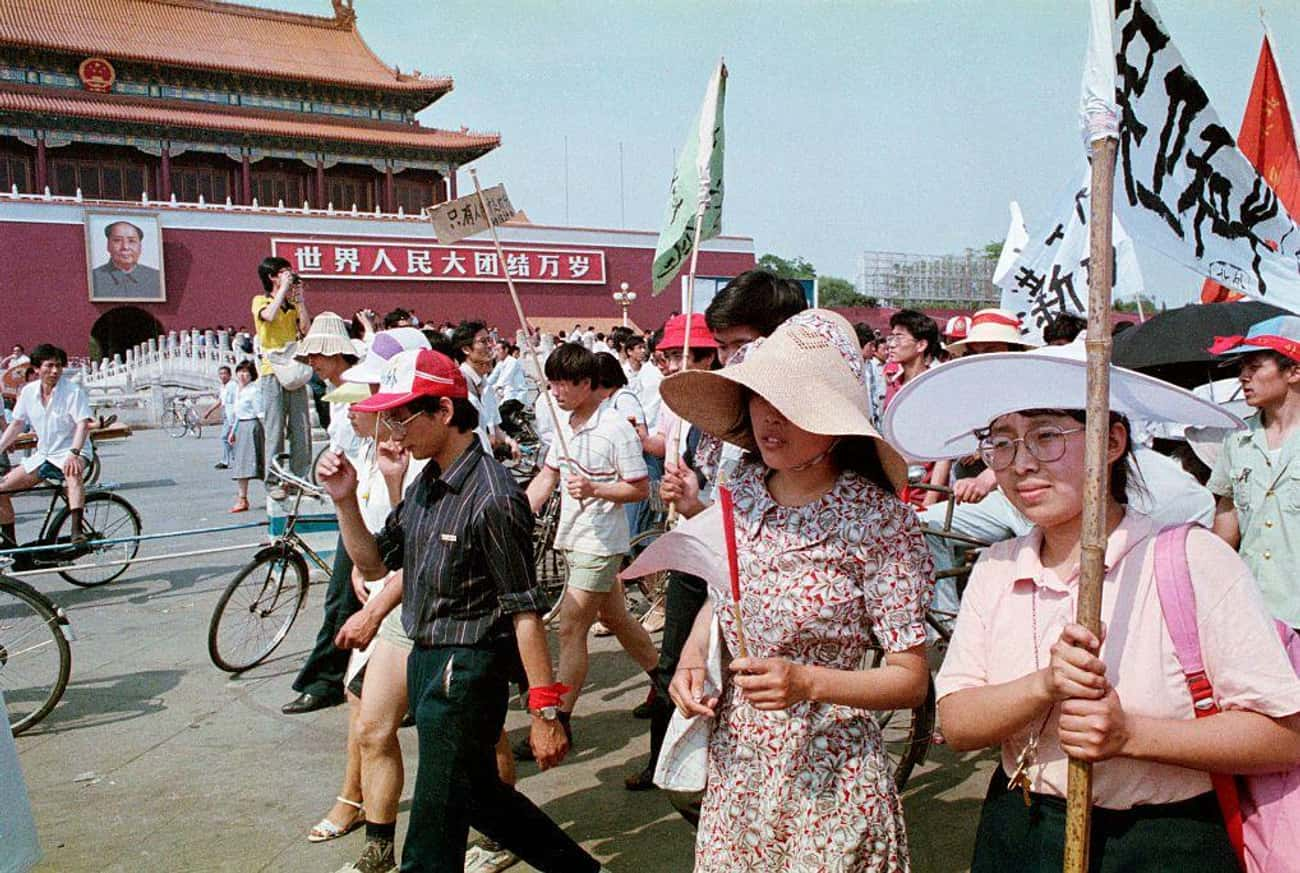 Demonstrating Peacefully is listed (or ranked) 3 on the list 30 Sobering Photos Of Tiananmen Square