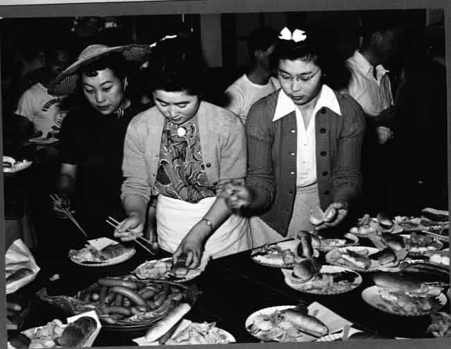 Japanese-American Women ... is listed (or ranked) 6 on the list Photos Of Japanese Internment Camps During WWII