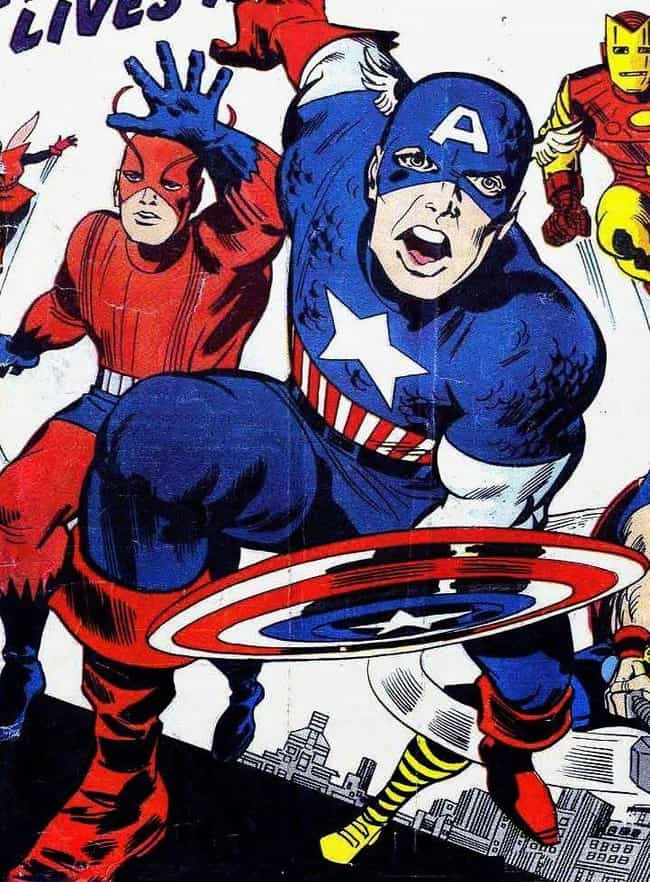 The Avengers - 1964 is listed (or ranked) 3 on the list The Evolution Of Captain America's Uniform Over The Last 76 Years
