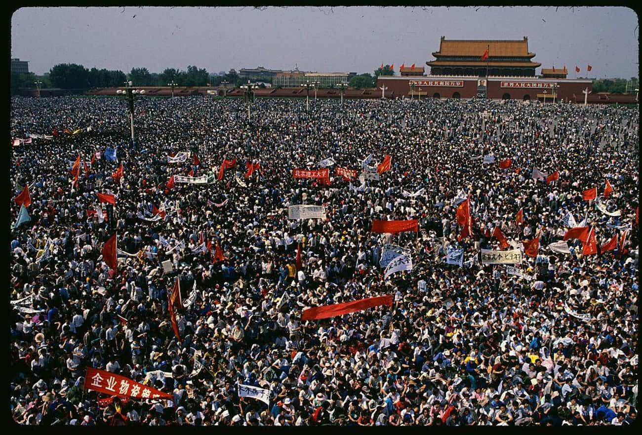 Students Asking For Greater Fr is listed (or ranked) 1 on the list 30 Sobering Photos Of Tiananmen Square