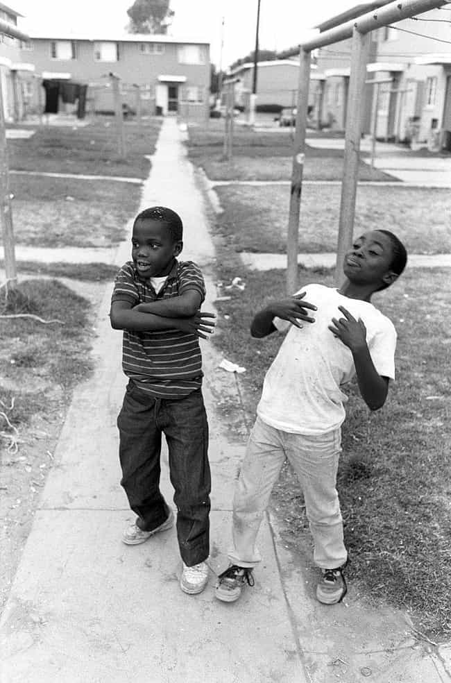 Kids Toss Gang Signs In Emulat... is listed (or ranked) 3 on the list 21 Startling Photos Of Gangs In Los Angeles During The '80s And '90s