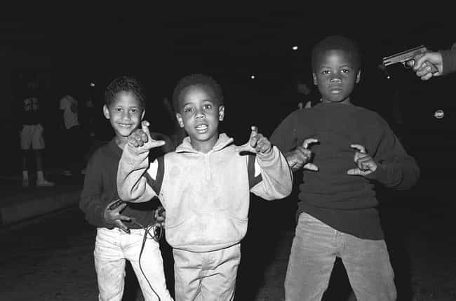 Three Wanna-Be Dodge City Crip... is listed (or ranked) 2 on the list 21 Startling Photos Of Gangs In Los Angeles During The '80s And '90s