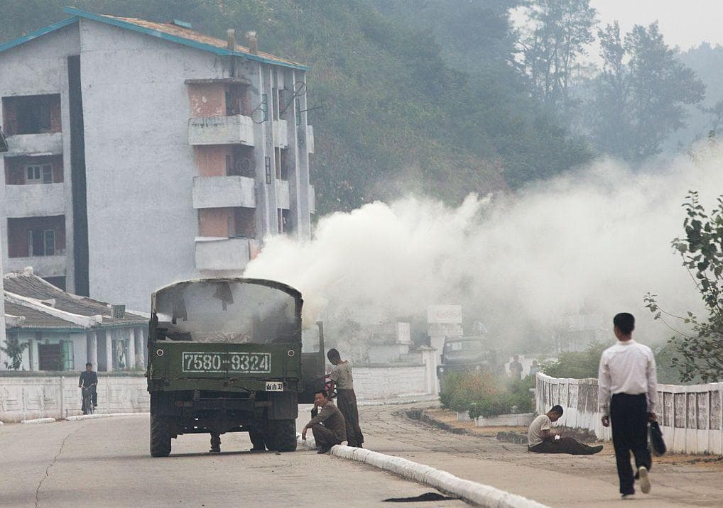 Wood-Burning Steam Truck on Random Pictures Of Rural Life In North Korea