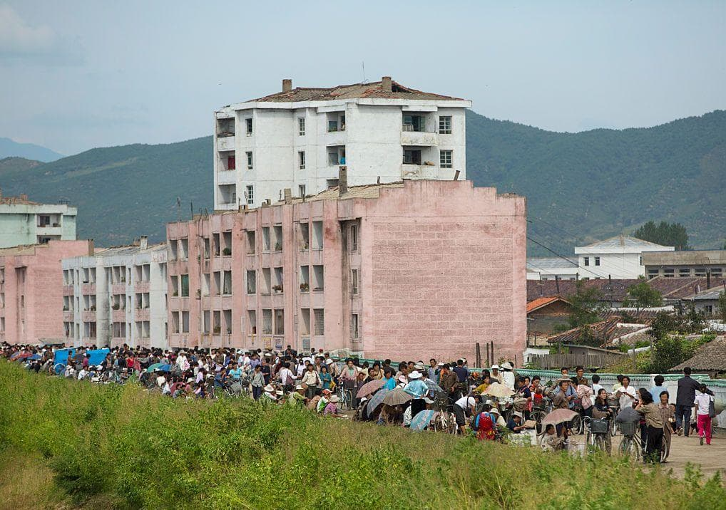 Crowd In A Market on Random Pictures Of Rural Life In North Korea