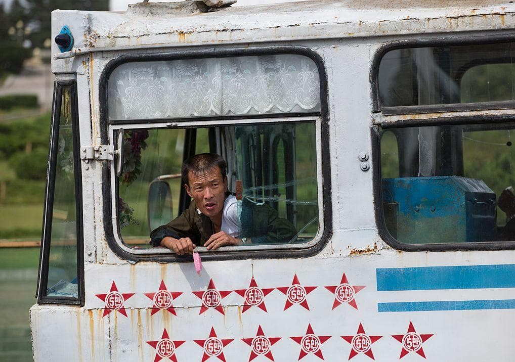 Tramway Driver on Random Pictures Of Rural Life In North Korea