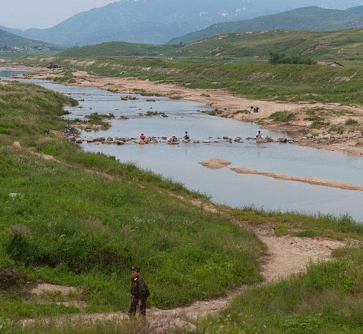 People Washing In A River on Random Pictures Of Rural Life In North Korea