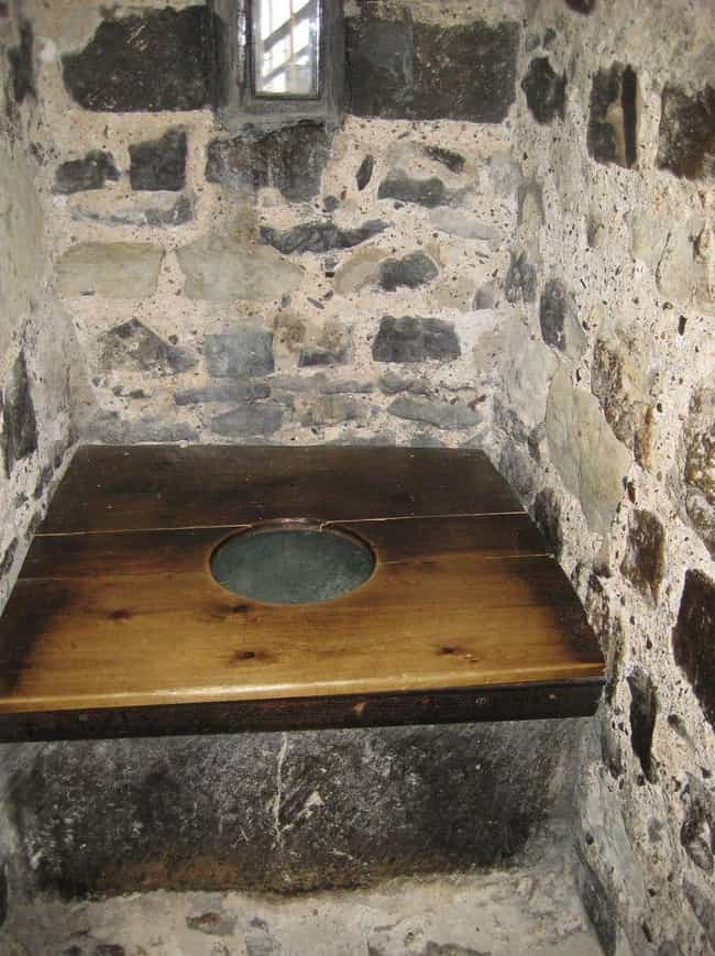 Toilets Were Often Just A Bench With Hole In It