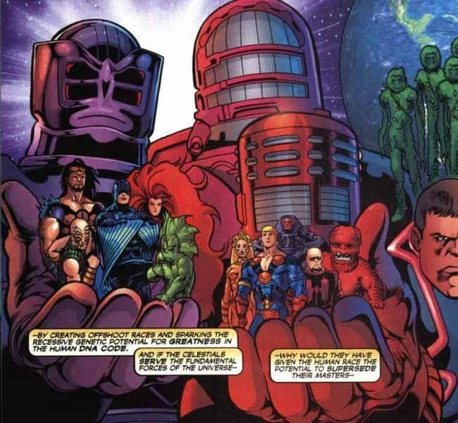 They Love Genetic Experi... is listed (or ranked) 1 on the list Things To Know About Marvel's Celestials