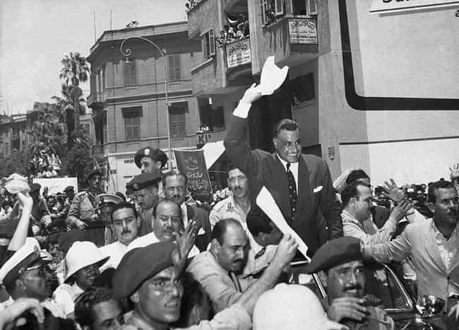 Egyptian President Gamal... is listed (or ranked) 1 on the list 21 Historic Photos From The Suez Crisis