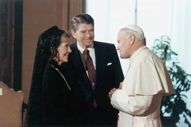 Meeting With Ronald And Nancy ... is listed (or ranked) 3 on the list 24 Awesome Photos Of One Of The Coolest Popes To Ever Live, Pope John Paul II