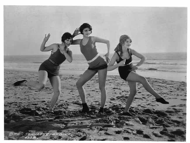 Girls Posing For A Mack Sennet... is listed (or ranked) 3 on the list 33 Pics of Old-Timey Swimsuits That Will Have You Dreaming of the Beach