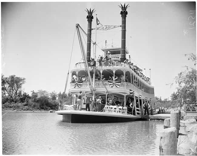 Mark Twain Steamboat is listed (or ranked) 4 on the list 20 Magical Photos From Disneyland's Opening Day