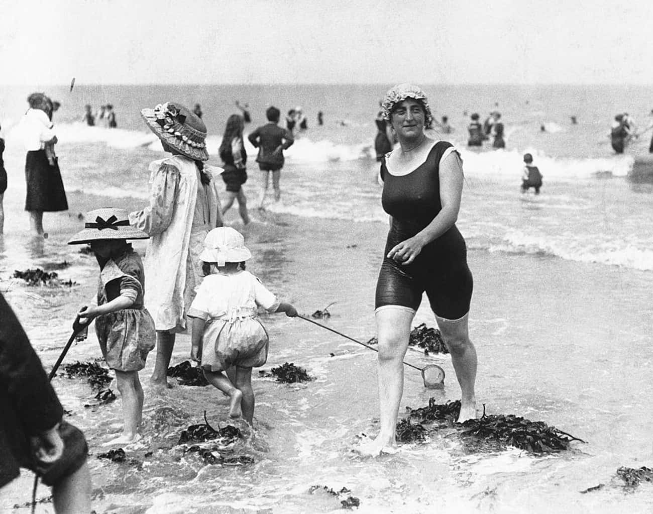 Bathers At Margate, 1913 is listed (or ranked) 2 on the list 33 Pics of Old-Timey Swimsuits That Will Have You Dreaming of the Beach