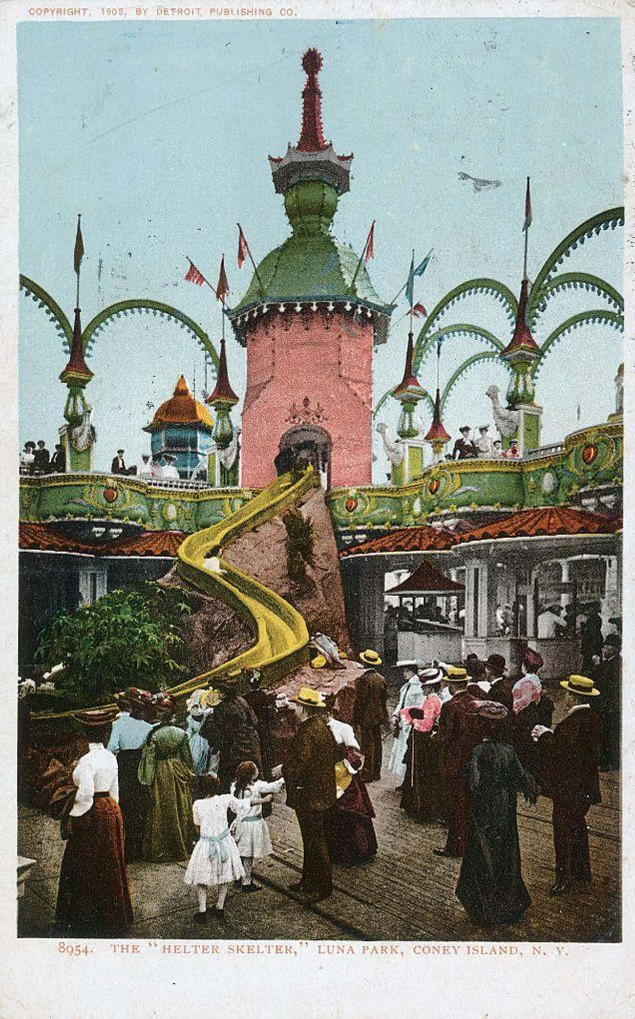 The Helter Skelter Ride In Con is listed (or ranked) 3 on the list 28 Historical Pictures Of New York's Famous Coney Island