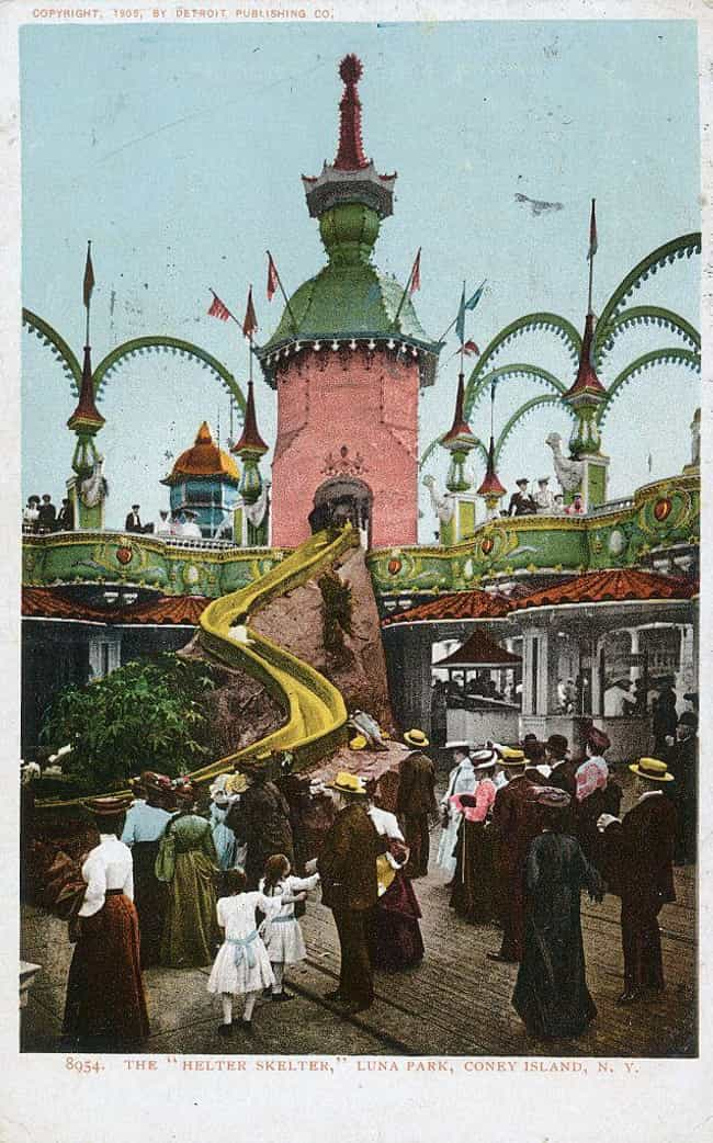 The Helter Skelter Ride In Con... is listed (or ranked) 3 on the list 28 Historical Pictures Of New York's Famous Coney Island