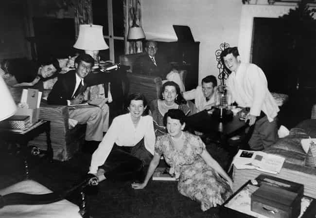 A Family Gathering in Pa... is listed (or ranked) 2 on the list Vintage Kennedy Family Photos