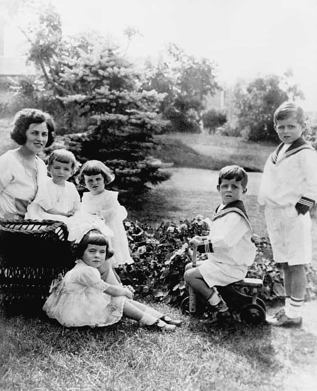 Rose Kennedy with Her Fi... is listed (or ranked) 3 on the list Vintage Kennedy Family Photos
