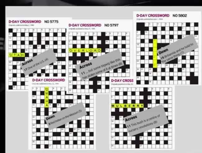 Image result for Crossword Puzzle Gives Away D-Day Invasion Code Words