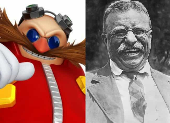 Dr. Eggman From Sonic Th... is listed (or ranked) 3 on the list 16 Video Game Characters We Should Have Known Are Modeled After Famous People