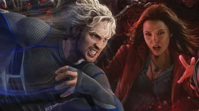 Quicksilver And Scarlet Witch ... is listed (or ranked) 4 on the list 18 Utterly Insane (Yet Weirdly Convincing) Marvel Studios Fan Theories