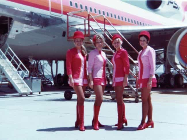 Super Chic And Ultra Babely &#... is listed (or ranked) 1 on the list 23 Vintage Flight Attendant And Air Travel Photos From The Glamorous Jet Age