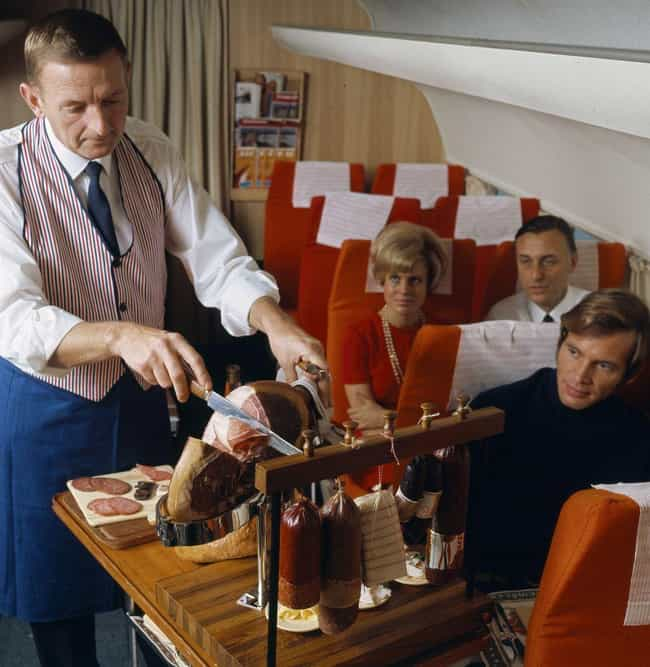 Is That Fresh Charcuterie On A... is listed (or ranked) 2 on the list 23 Vintage Flight Attendant And Air Travel Photos From The Glamorous Jet Age