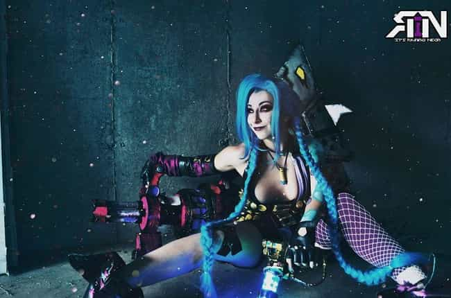 Jinx From 'League Of Legen... is listed (or ranked) 4 on the list The Stunning Cosplay Of It's Raining Neon, A One-Woman Powerhouse Of Creativity