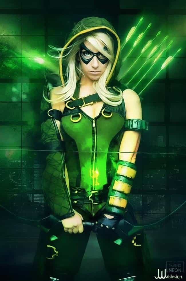 Green Arrow From 'Green Ar... is listed (or ranked) 1 on the list The Stunning Cosplay Of It's Raining Neon, A One-Woman Powerhouse Of Creativity
