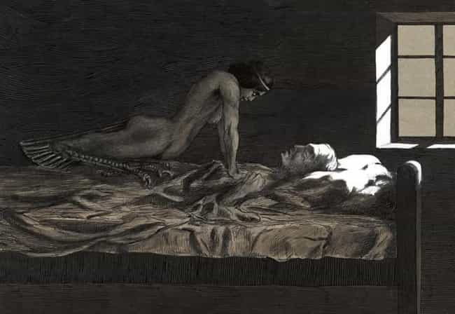 The Phenomenon: Night Hag Synd... is listed (or ranked) 4 on the list 12 Strange Sleep Phenomena And Why They Occur