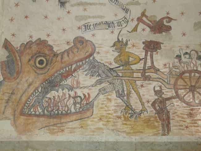"""A """"Hell Mouth"""" Over Th... is listed (or ranked) 1 on the list How The Medieval Catholic Church Frightened Parishioners Into Obedience"""