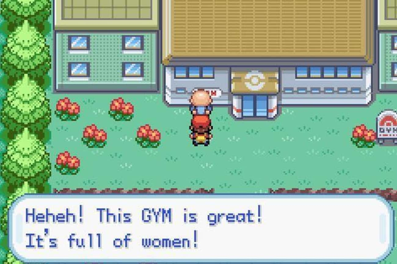 The Old Perverted Man Who Is Peeking Into Celedon City Gym