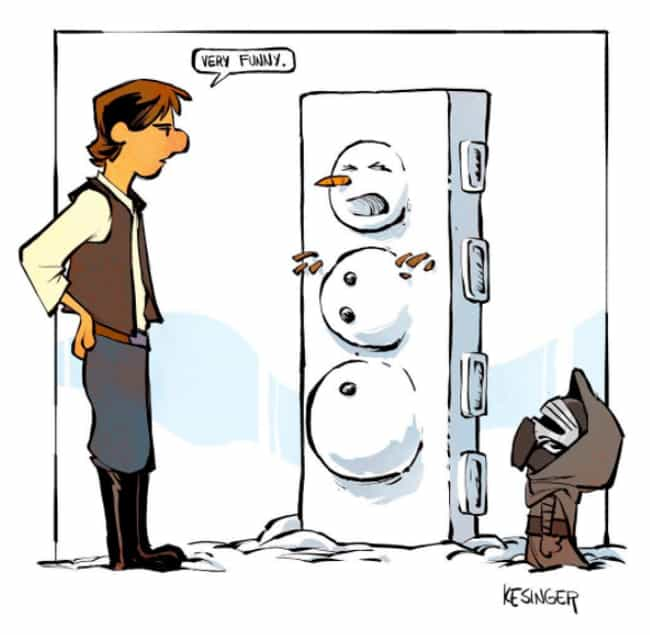 Lil' Kylo Makes A Snowma... is listed (or ranked) 1 on the list This Guy Draws Star Wars Characters In Calvin And Hobbes Style, And It's Genuinely Heart-Warming