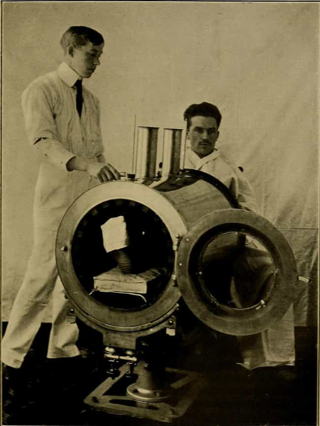 Man In A Radioscopic The... is listed (or ranked) 6 on the list Medical Devices From The Early 1900s Were Absolutely Terrifying