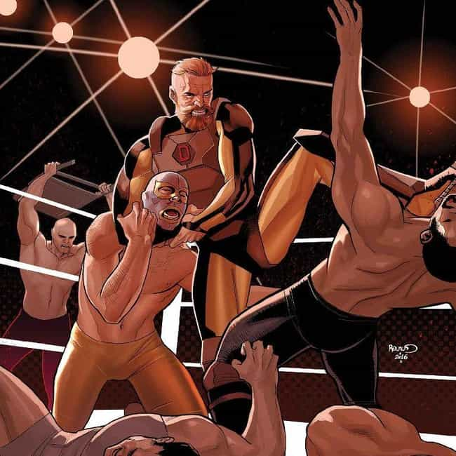 Dennis Dunphy Started Ou... is listed (or ranked) 2 on the list The Astounding Story Of D-Man: Marvel's Gay Wrasslin' Hero
