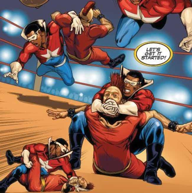 He Helped The Thing Take... is listed (or ranked) 3 on the list The Astounding Story Of D-Man: Marvel's Gay Wrasslin' Hero