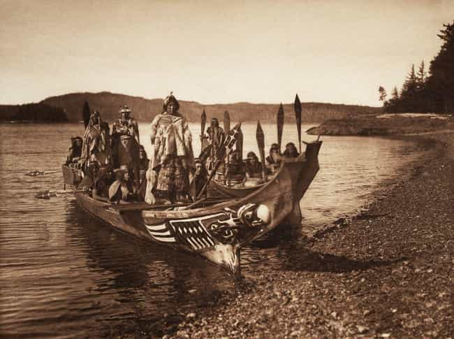 Wedding Party Of The Kwakiutl is listed (or ranked) 1 on the list 27 Photos Of Native Americans From The Early 1900s