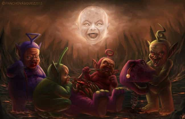 Teletubbies Eating Barne... is listed (or ranked) 3 on the list This Amazing Artist Draws Classic Characters As You've Never Seen Them Before