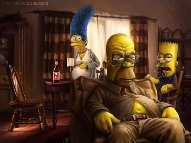 The Simpsons is listed (or ranked) 1 on the list This Amazing Artist Draws Classic Characters As You've Never Seen Them Before