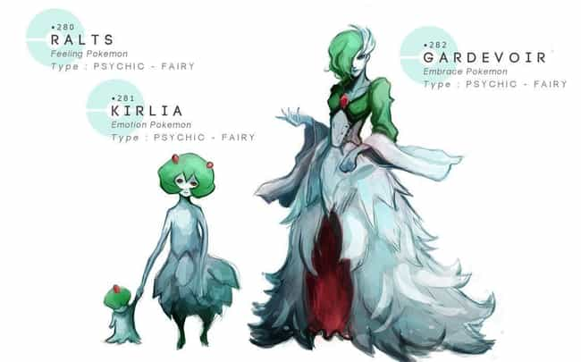 Ralts, Kirlia, Gardevoir... is listed (or ranked) 3 on the list This Artist Draws Pokémon In Grotesquely Realistic Style