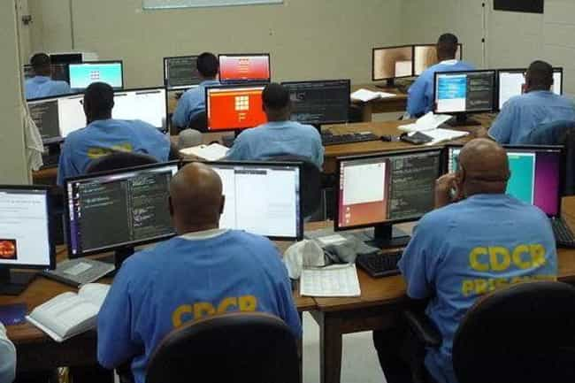Coding is listed (or ranked) 2 on the list Classes You Won't Believe Inmates Can Take In Prison