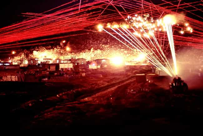 That Night, The Sky Was ... is listed (or ranked) 1 on the list A Barrage In The Night Against A Lone Viet Cong Combatant