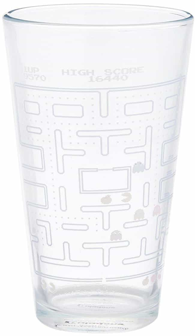 Pacman Pint Glass That C... is listed (or ranked) 3 on the list Great Gifts For Gamer Dads